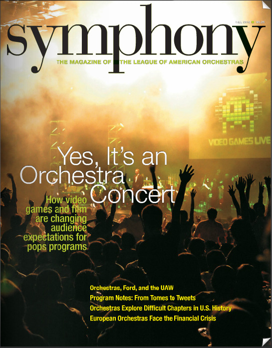 The cover of Symphony Magazine!