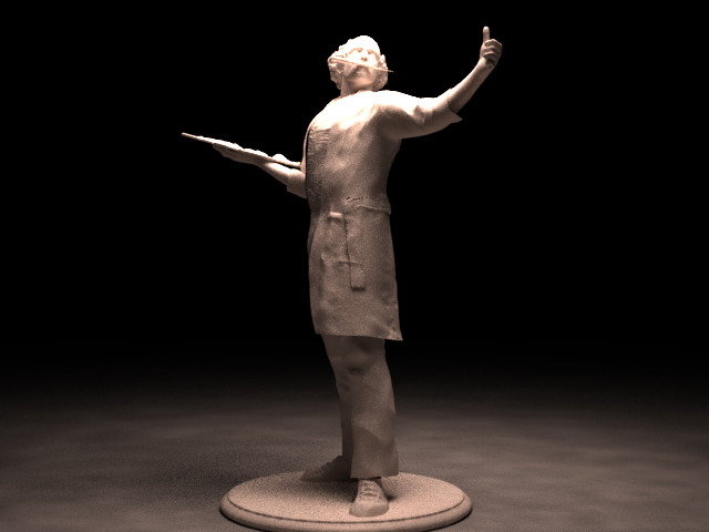 """The Artist"" 3D printed figure.  4"""
