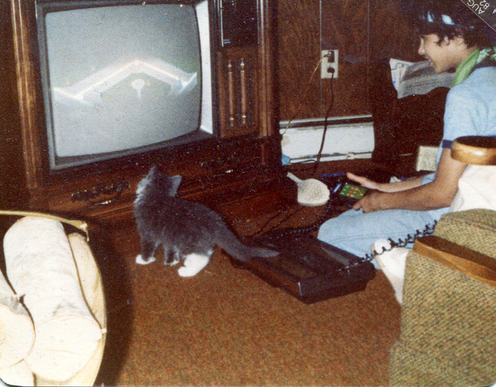 Tommy playing Intellivision circa 1982