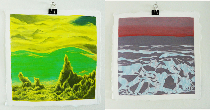 "$1,000 – ""Untitled 1"" (left) OR ""Untitled 2"" (right) by Maximilian Bode – small acrylic canvases (choose one)"