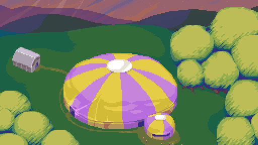 Dropsy's circus tent in it's glory days.