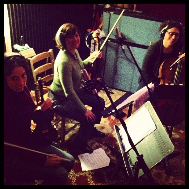 Alisa Rose, Dina Maccabee, Jess Ivry: making the record fancy!