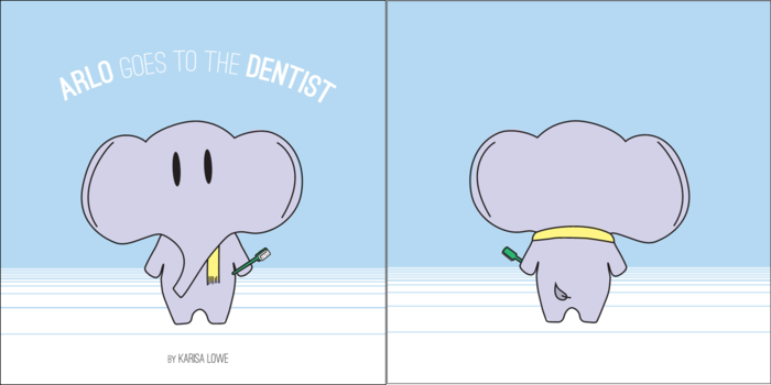 Arlo Goes to the Dentist, front and back covers