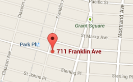 The space is located at 711a Franklin and Park Ave next to the laundromat