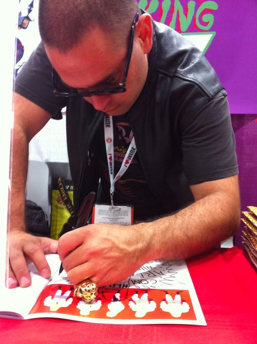 JJ signing his books at Comic Con International, San Diego, 2013