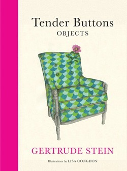 """""""Tender Buttons: Objects"""" by Gertrude Stein, Illustrations by Lisa Congdon, published by Chronicle Books, 2013."""