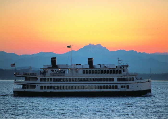 The Royal Argosy at sunset.