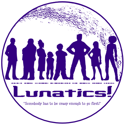 Lunatics Medallion Logo (T-Shirt & Stickers)