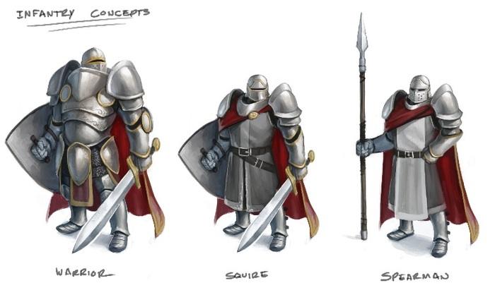 Concept art for infantry units
