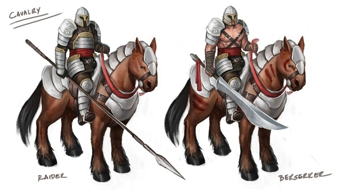 Concept art for Cavalry