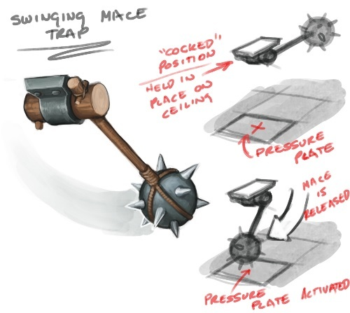 The swinging mace packs a massive punch and can disable most units in a single hit!
