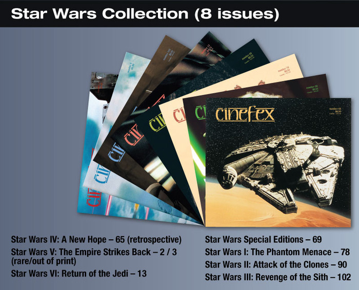 For the $20 backer level, you will be able to download to your iPad, these 8 issues of Cinefex on Star Wars.