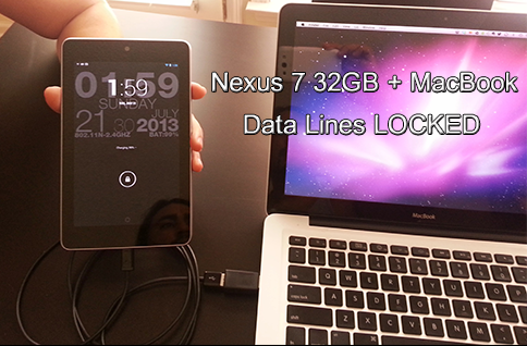 Asus Nexus 7 Charging using LockedUSB Charger Firewall
