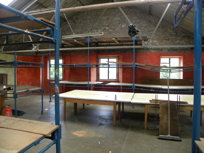 Project room area where the proposed soft furnished briefing room and board/smaller games room will be situated...