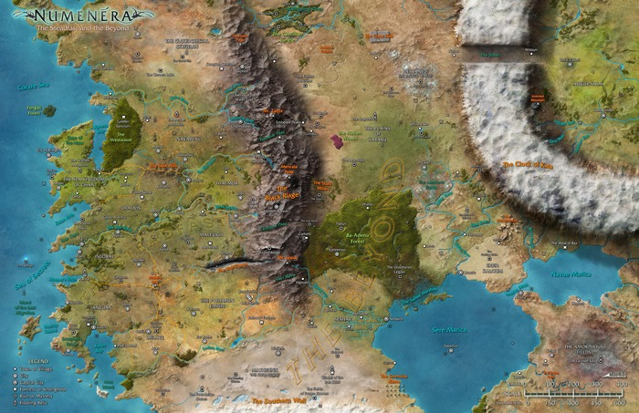 The Numenera World Map