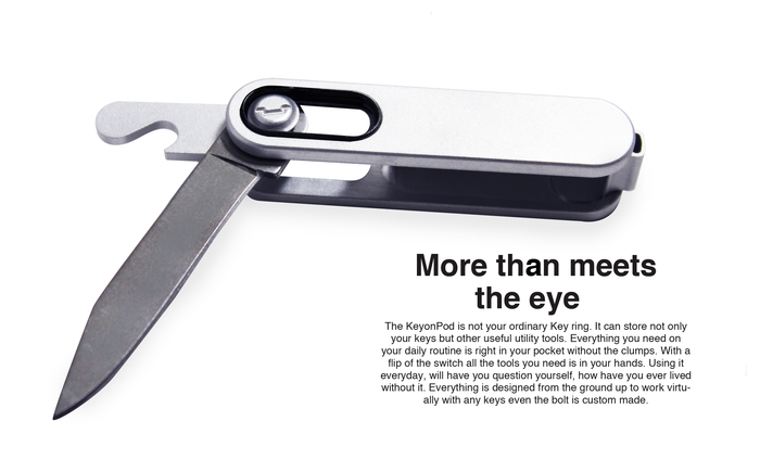 The Utility Knife will not be offered through Kickstarter. The image is only used to show the bottle opener.