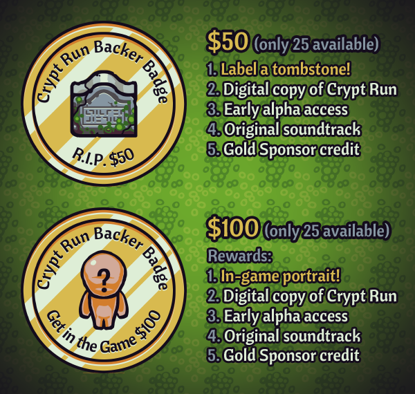 Crypt Run gold rewards