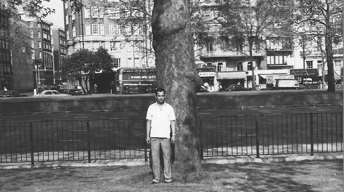 My Late Father In Hyde Park, Near Park Lane, London. (1957 I think).