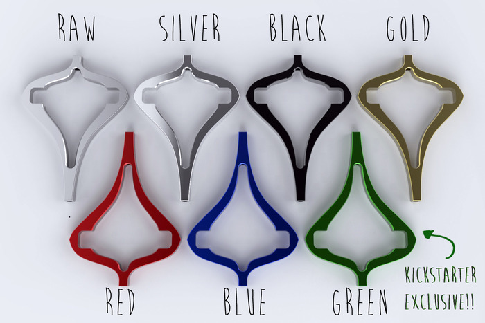 Manuka Colour Options. Nb. Raw has no coating; all the others are anodized*