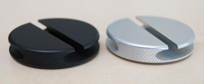 Matte black and matte silver QooQi working prototypes