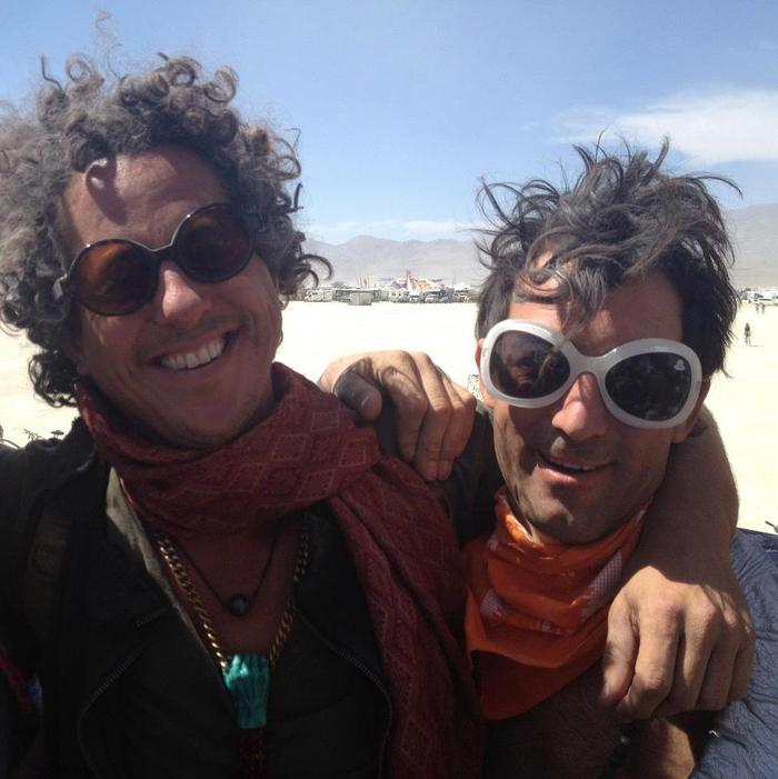 Yarrow and friend on the playa at Burning Man 2012