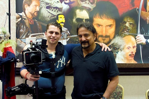 Our Director of Photography, Cameron Mitchell, with the legendary Tom Savini