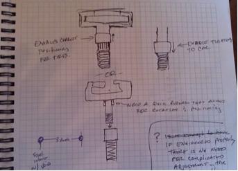 Initial pencil sketches.