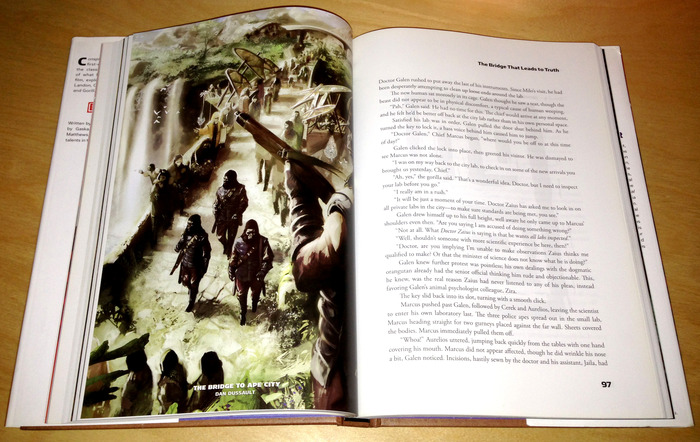 An example layout from our previous illustrated novel. The Frenzy illustrated novel will be laid out similar to this.
