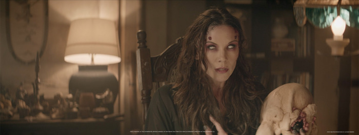 "Stacy Haiduk, as the Interpreter, reveals herself in the short film ""Fire City: King of Miseries"" directed by Tom Woodruff, Jr."