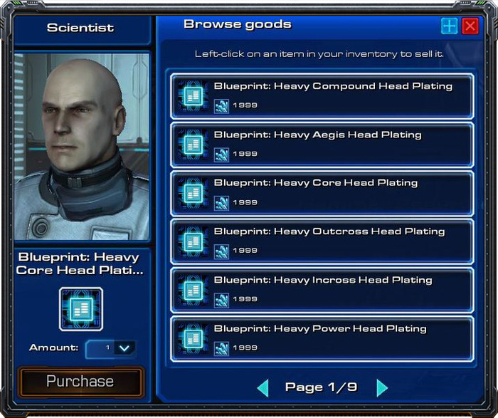 A vendor selling blueprints.
