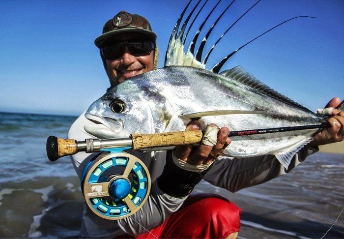 "Mark Martin with a ""warm up"" Roosterfish"