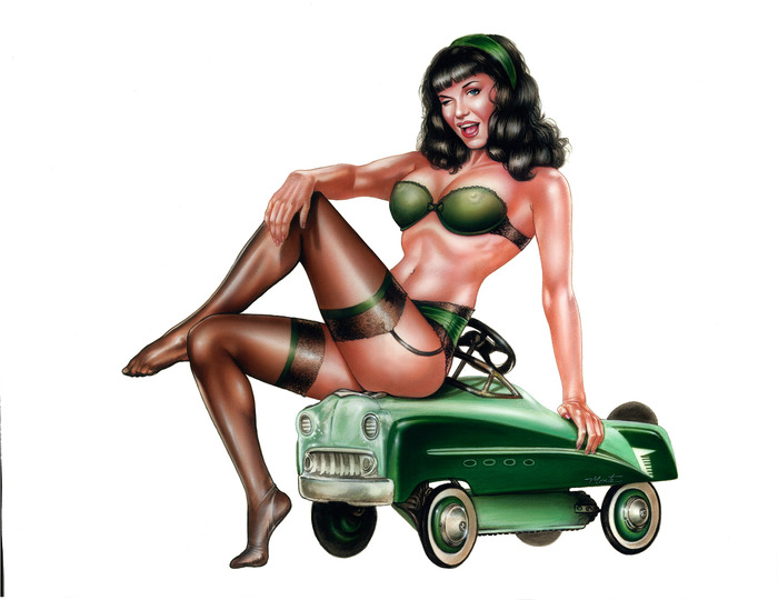 Hot Rod Bettie Print