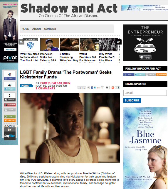WE WERE FEATURED IN INDIEWIRE!