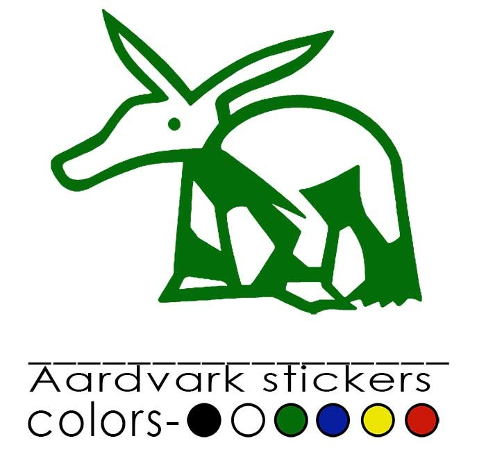 Choose your own sticker color - black, white, green, blue, yellow or red!