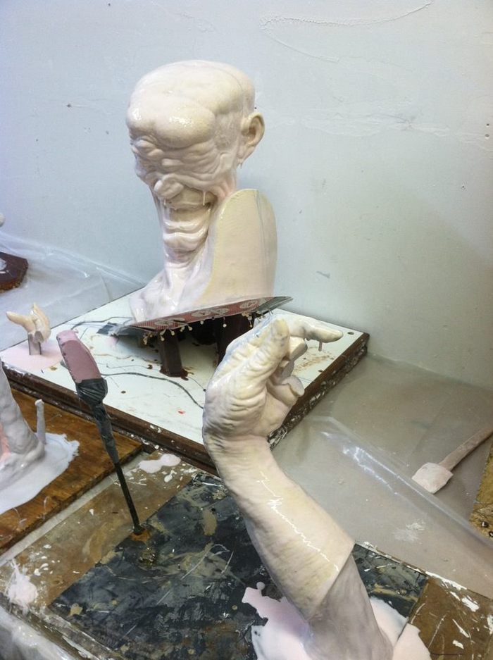 Softspot sculpt being molded for bronze for the show.