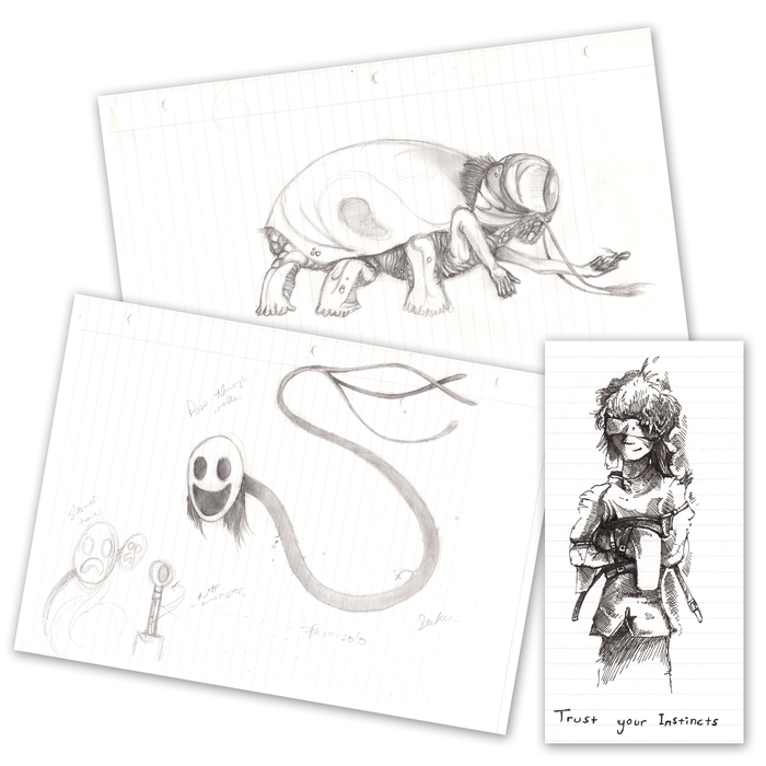 Get one of the actual physical pieces of original concept art, signed or unsigned by our development team: your choice!