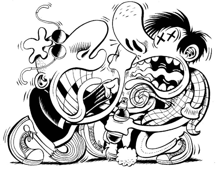 Peter Bagge sketch example