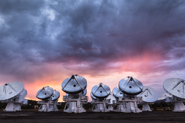 CARMA Array Sunset
