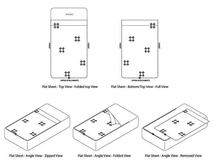 Technical Drawings for the Top Sheet
