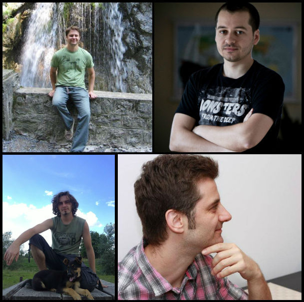 (Left to right, top to bottom) Eugen, Liviu, Virgil and Florin.