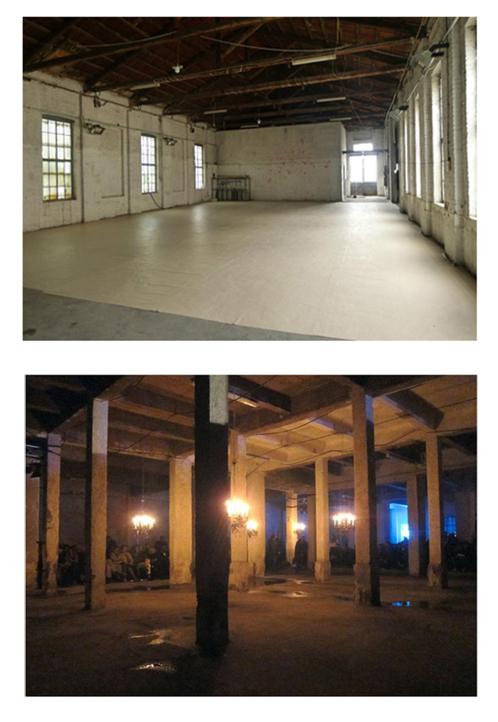 top: first floor space 1, bottom: ground floor space 3
