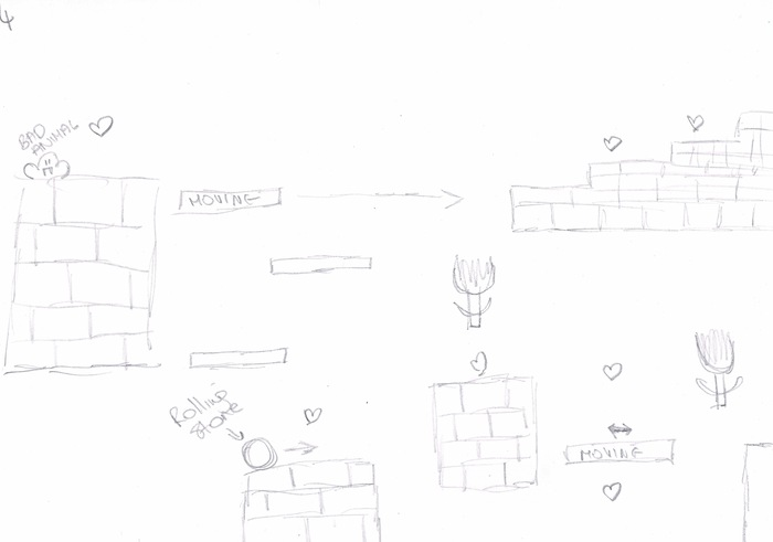 Level concept sketches