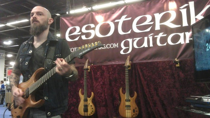 Esoterik artist Lanning Kann at the NAMM show