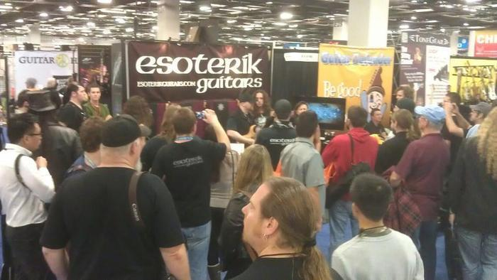 The crowd at our NAMM show booth
