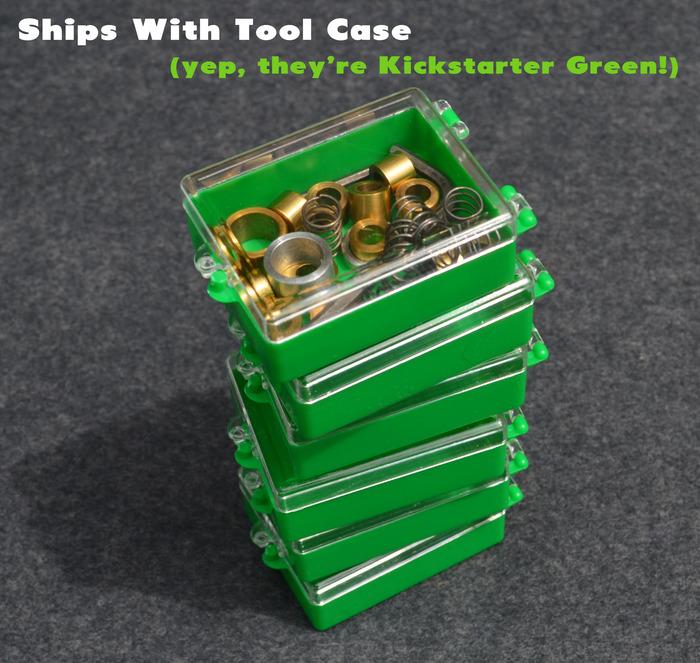 Tool & Weight Case in Kickstarter Green.