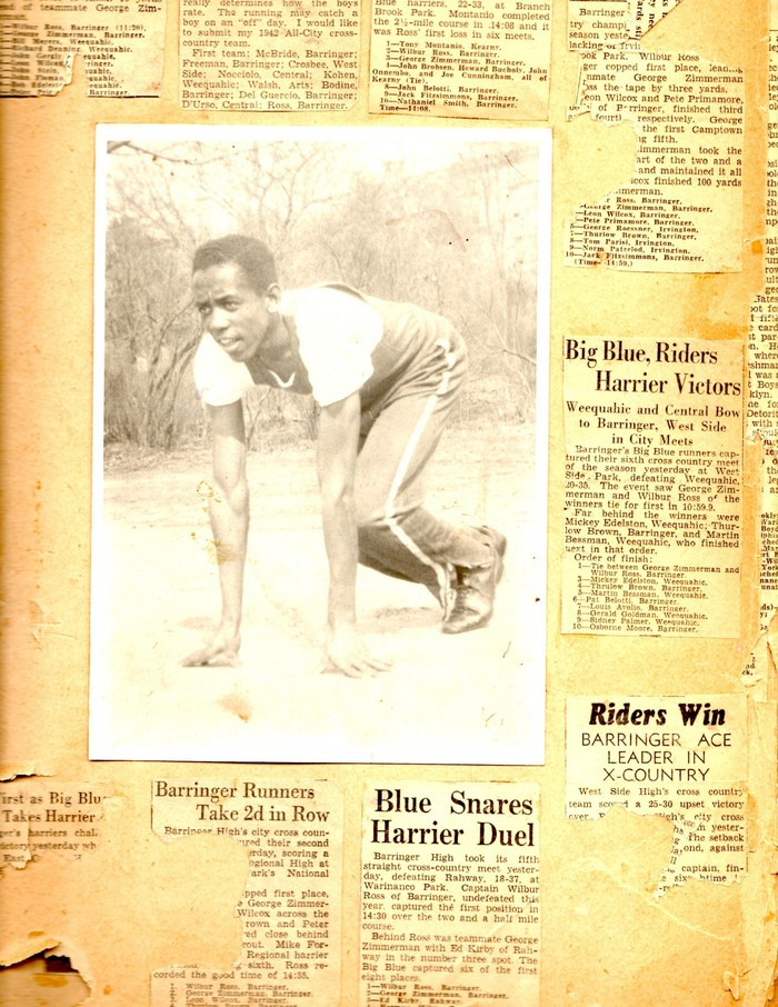 Newspaper articles about dad as an athlete.