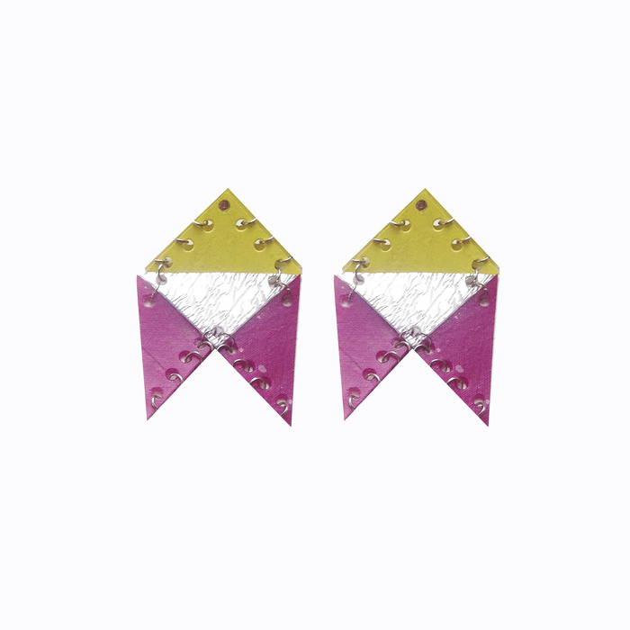 AW13 Chevron earrings