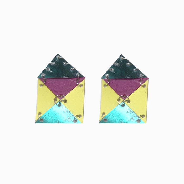 AW13 House earrings