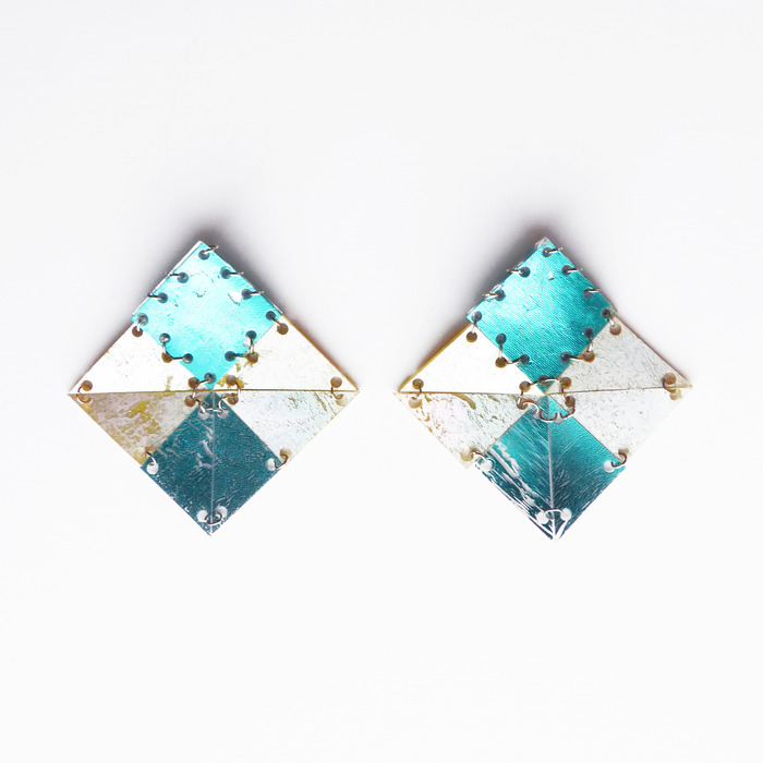 AW13 Large Square earrings (see online shop for colour options)