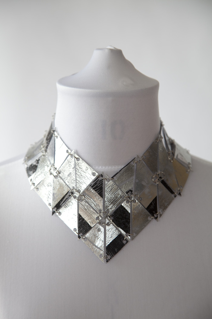 AW13 Large silver and black necklace (also available in hologram) This is not available on the JB online shop!